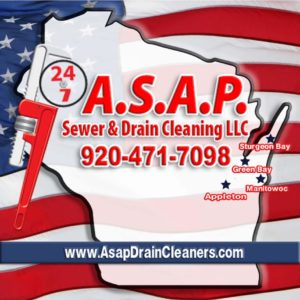 Asap logo With flag background
